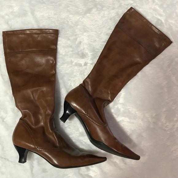 d124b8b0cfd Franco Sarto Shoes - Franco Sarto Kitten Heel Pointed Toe Boots 9 1 2